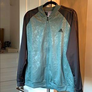 Adidas track jacket women's XL nwot.